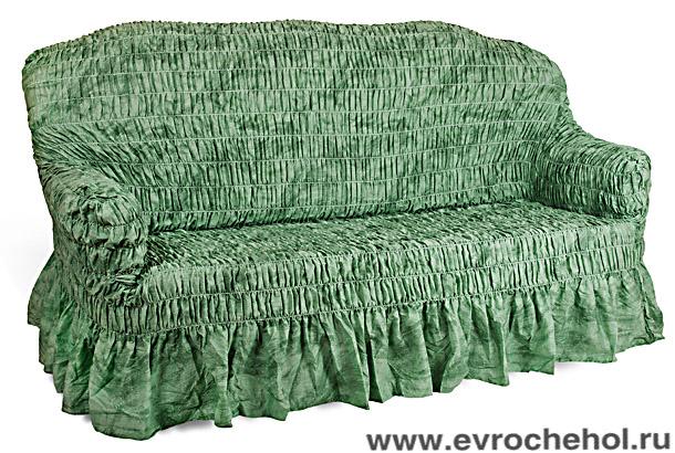 Чехол на 3-х местный диван Еврочехол Фантазия, цвет: зеленый, 160-220 см2/11-3Чехол на 3-х местный диван Еврочехол Фантазия выполнен из 50% хлопка, 50% полиэстера. Он идеально подойдет для тех, кто хочет защитить свою мебель от постоянных воздействий. Этот чехол, благодаря прочности ткани, станет идеальным решением для владельцев домашних животных. Кроме того, состав ткани гипоаллергенен, а потому безопасен для малышей или людей пожилого возраста. Такой чехол отлично впишется в любой интерьер. Еврочехол послужит не только практичной защитой для вашей мебели, но и приятно удивит вас мягкостью ткани и итальянским качеством производства. Растяжимость чехла по спинке (без учета подлокотников): 160-220 см.
