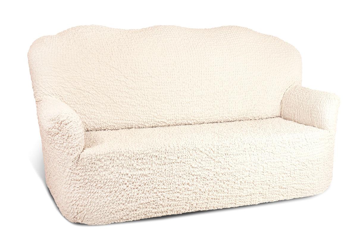 "Чехол на 3-х местный диван Еврочехол ""Модерн"", цвет: ваниль, 150-220 см 1/1-3"