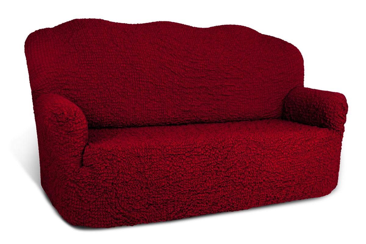 Чехол на 3-х местный диван Еврочехол Модерн, цвет: рубиновый, 150-220 см1/4-3Чехол на 3-х местный диван Еврочехол Модерн выполнен из 60% хлопка, 35% полиэстера, 5% эластана. Благодаря прочности ткани этот чехол для мебели станет идеальным решением защиты мебели для владельцев домашних животных. Кроме того, натуральный состав ткани гипоаллергенен, а потому безопасен для малышей или людей пожилого возраста. Чехол актуален для таких стилевых решений, как скандинавский, лофт, английский, эко-стиль, нью-йоркский. Мягкая ткань из высокопрочного хлопка обеспечит вашему дивану достойную защиту от воздействий, а современный стиль подарит ежедневную радость от обновленной обстановки в доме. Растяжимость чехла по спинке (без учета подлокотников): 150-220 см.