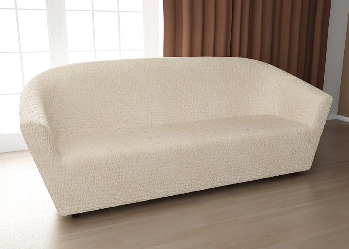 Чехол на 3-х местный диван-ракушку Еврочехол «Модерн», цвет: шампань, 170-230 см  пуфик крючком мастер класс