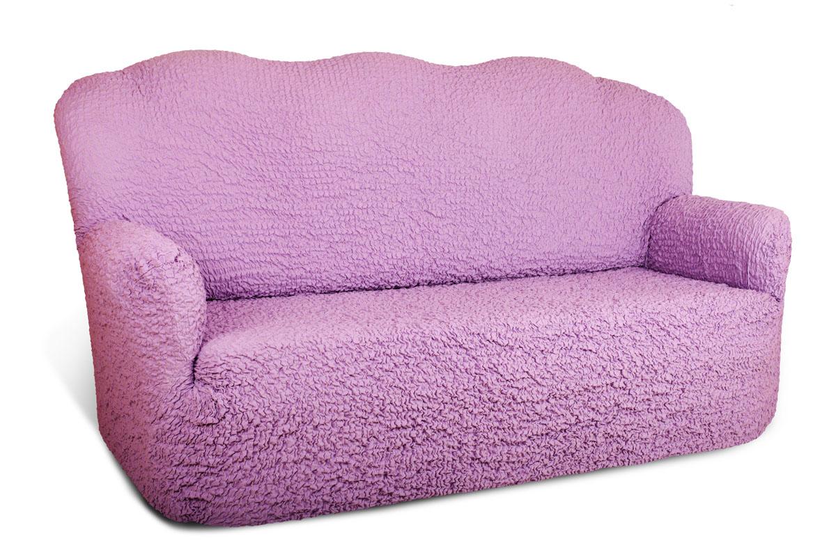 Чехол на 3-х местный диван Еврочехол «Модерн», цвет: лиловый, 150-220 см  тумба для обуви лана