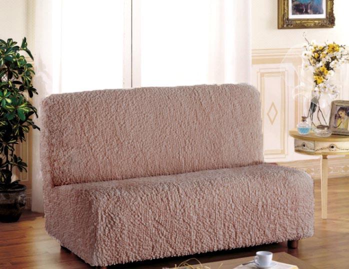Чехол на 3-х местный диван Еврочехол «Модерн», без подлокотников, цвет: какао, 150-220 см  диван кровать в гомеле фото