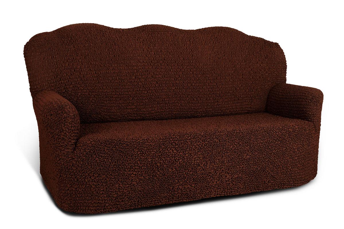 Чехол на 3-х местный диван Еврочехол Микрофибра, цвет: черный шоколад, 160-240 см3/26-3Чехол на 3-х местный диван Еврочехол Микрофибра выполнен из 100% полиэстера. Он идеально подойдет для тех, кто хочет защитить свою мебель от постоянных воздействий. Этот чехол, благодаря прочности ткани, станет идеальным решением для владельцев домашних животных. Кроме того, натуральный состав ткани гипоаллергенен, а потому безопасен для малышей или людей пожилого возраста. Чехол Микрофибра отлично впишется в любой интерьер, особенно, если это классический стиль, конструктивизм, минимализм, постмодернизм. Еврочехол послужит не только практичной защитой для вашей мебели, но и приятно удивит вас мягкостью ткани и итальянским качеством производства. Растяжимость чехла по спинке (без учета подлокотников): 160-240 см.
