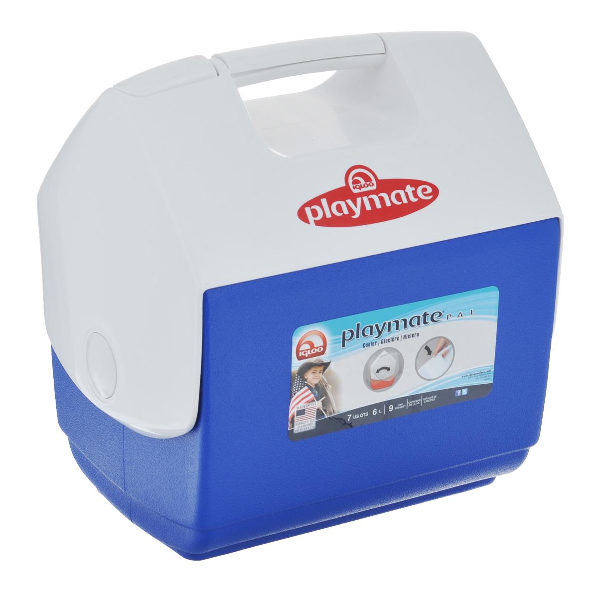 Изотермический контейнер Igloo Playmate Pal, цвет: синий, белый, 6 л7363Легкий и прочный изотермический контейнер Igloo Playmate Pal, изготовленный из высококачественного пластика, предназначен для транспортировки и хранения продуктов и напитков. Для поддержания температуры использовать с аккумуляторами холода. Особенности изотермического контейнера Igloo Playmate Pal: - оригинальный замок на верхней крышки Playmate-Realise для открывания одной рукой; - крышка распахивается, обеспечивая легкий доступ к содержимому; - фирменный дизайн Playmate; - защелка надежно фиксирует крышку; - UltraTherm изоляция корпуса и крышки сохраняет содержимое холодным; - эргономичный гладкий дизайн корпуса; - экологически чистые материалы.