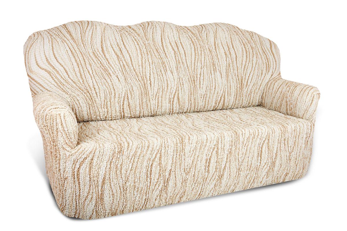 Чехол на 3-х местный диван Еврочехол Виста, 160-240 см. 6/43-36/43-3Чехол на 3-х местный диван Еврочехол Виста выполнен из 50% хлопка, 50% полиэстера. Он идеально подойдет для тех, кто хочет защитить свою мебель от постоянных воздействий. Этот чехол, благодаря прочности ткани, станет идеальным решением для владельцев домашних животных. Кроме того, состав ткани гипоаллергенен, а потому безопасен для малышей или людей пожилого возраста. Такой чехол отлично впишется в любой интерьер. Еврочехол послужит не только практичной защитой для вашей мебели, но и приятно удивит вас мягкостью ткани и итальянским качеством производства. Растяжимость чехла по спинке (без учета подлокотников): 160-240 см.
