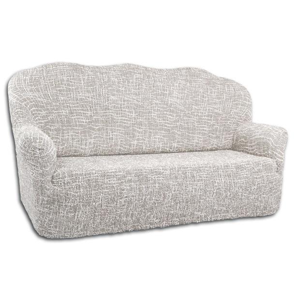 Чехол на 3-х местный диван Еврочехол Виста. Иллюзия, 160-240 см6/94-3Чехол на 3-х местный диван Еврочехол Виста. Иллюзия выполнен из 50% хлопка, 50% полиэстера. Он идеально подойдет для тех, кто хочет защитить свою мебель от постоянных воздействий. Этот чехол, благодаря прочности ткани, станет отличным решением для владельцев домашних животных. Кроме того, состав ткани гипоаллергенен, а потому безопасен для малышей или людей пожилого возраста. Такой чехол отлично впишется в любой интерьер. Он послужит не только практичной защитой для вашей мебели, но и приятно удивит вас мягкостью ткани и итальянским качеством производства. Растяжимость чехла по спинке (без учета подлокотников): 160-240 см.