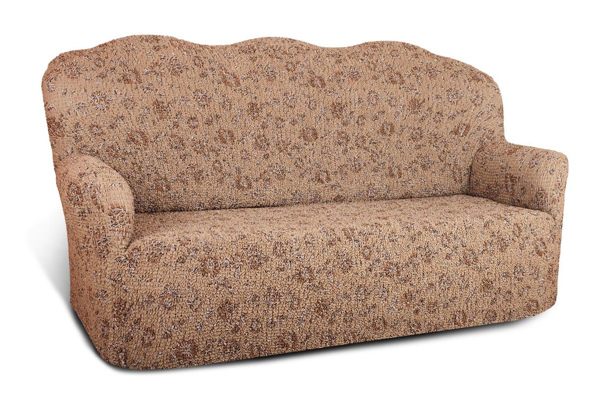 Чехол на 3-х местный диван Еврочехол Виста, цвет: светло-серый, коричневый, 160-240 см6/36-3Чехол на 3-х местный диван Еврочехол Виста выполнен из 50% хлопка, 50% полиэстера. Он идеально подойдет для тех, кто хочет защитить свою мебель от постоянных воздействий. Этот чехол, благодаря прочности ткани, станет идеальным решением для владельцев домашних животных. Кроме того, состав ткани гипоаллергенен, а потому безопасен для малышей или людей пожилого возраста. Такой чехол отлично впишется в любой интерьер. Еврочехол послужит не только практичной защитой для вашей мебели, но и приятно удивит вас мягкостью ткани и итальянским качеством производства. Растяжимость чехла по спинке (без учета подлокотников): 160-240 см.
