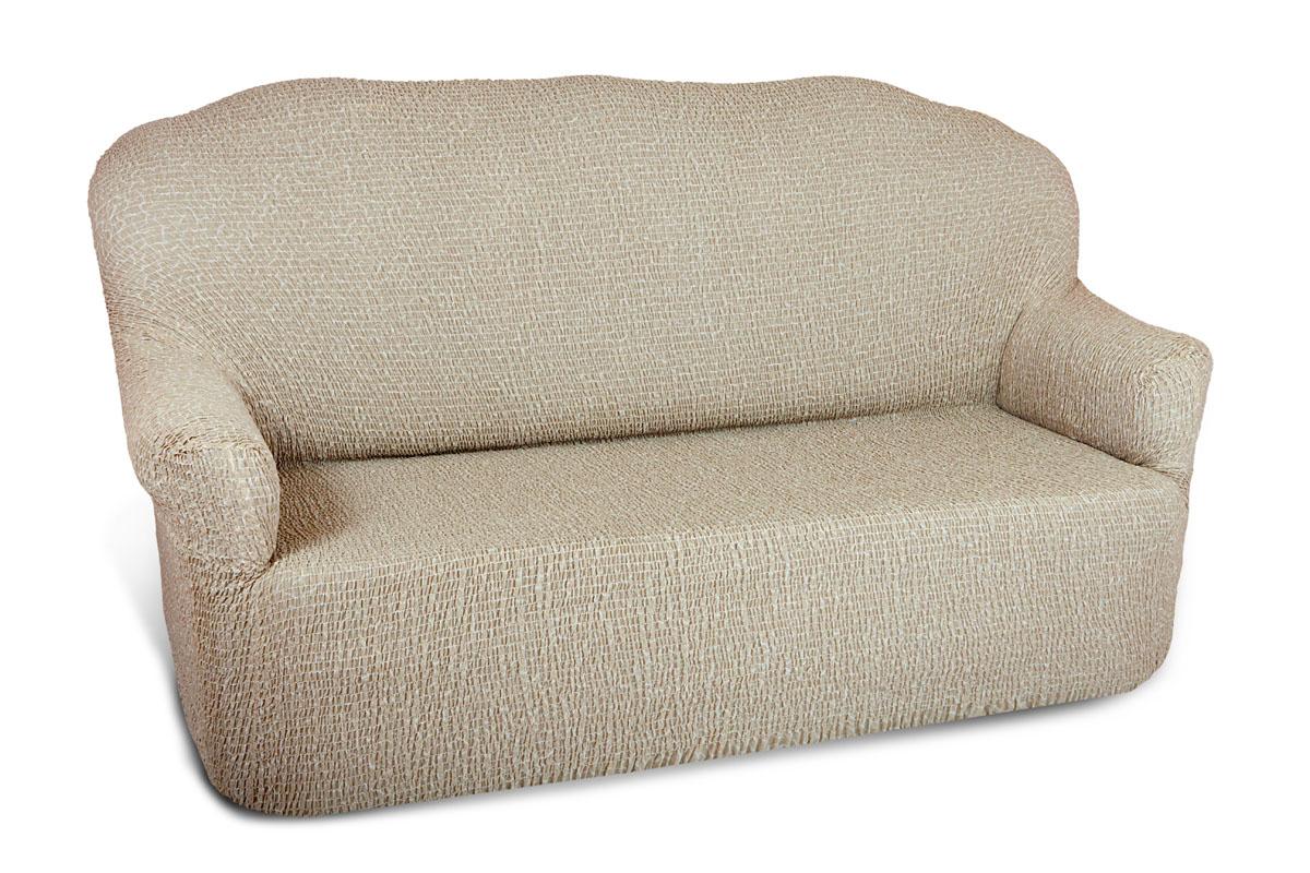 Чехол на 2-х местный диван Еврочехол Плиссе, цвет: кремовый, 100-150 см. 7/50-27/50-2Чехол на 2-х местный диван Еврочехол Плиссе выполнен из 50% хлопка, 50% полиэстера. Он идеально подойдет для тех, кто хочет защитить свою мебель от постоянных воздействий. Этот чехол, благодаря прочности ткани, станет идеальным решением для владельцев домашних животных. Кроме того, состав ткани гипоаллергенен, а потому безопасен для малышей или людей пожилого возраста. Такой чехол отлично впишется в любой интерьер. Еврочехол послужит не только практичной защитой для вашей мебели, но и приятно удивит вас мягкостью ткани и итальянским качеством производства. Растяжимость чехла по спинке (без учета подлокотников): 100-150 см.