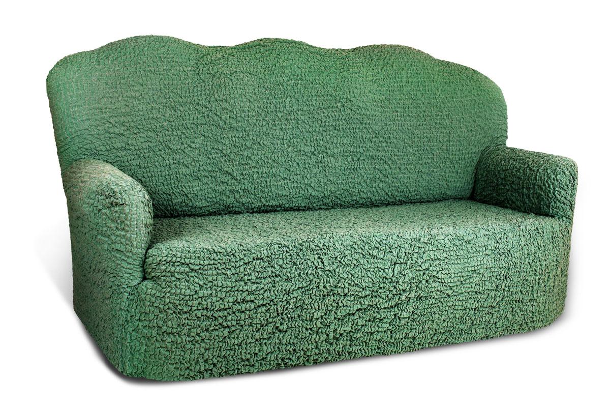 Чехол на 2-х местный диван Еврочехол Модерн, цвет: малахит, 100-150 см1/5-2Чехол на 2-х местный диван Еврочехол Модерн выполнен из 60% хлопка, 35% полиэстера, 5% эластана. Он идеально подойдет для тех, кто хочет защитить свою мебель от постоянных воздействий. Этот чехол, благодаря прочности ткани, станет идеальным решением для владельцев домашних животных. Кроме того, состав ткани гипоаллергенен, а потому безопасен для малышей или людей пожилого возраста. Такой чехол отлично впишется в любой интерьер. Еврочехол послужит не только практичной защитой для вашей мебели, но и приятно удивит вас мягкостью ткани и итальянским качеством производства. Растяжимость чехла по спинке: 100-150 см.