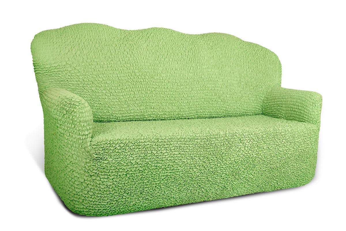 """Еврочехол на 2-х местный диван Еврочехол """"Микрофибра"""", цвет: зеленое яблоко. 852"""