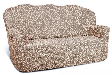 Чехол на 2-х местный диван Еврочехол Жаккард, 100-150 см5/31-2Чехол на 2-х местный диван Еврочехол Жаккард выполнен из 80% хлопка, 15% полиэстера, 5% эластана. Он идеально подойдет для тех, кто хочет защитить свою мебель от постоянных воздействий. Этот чехол, благодаря прочности ткани, станет идеальным решением для владельцев домашних животных. Кроме того, состав ткани гипоаллергенен, а потому безопасен для малышей или людей пожилого возраста. Такой чехол отлично впишется в любой интерьер. Еврочехол послужит не только практичной защитой для вашей мебели, но и приятно удивит вас мягкостью ткани и итальянским качеством производства. Растяжимость чехла по спинке (без учета подлокотников): 100-150 см.