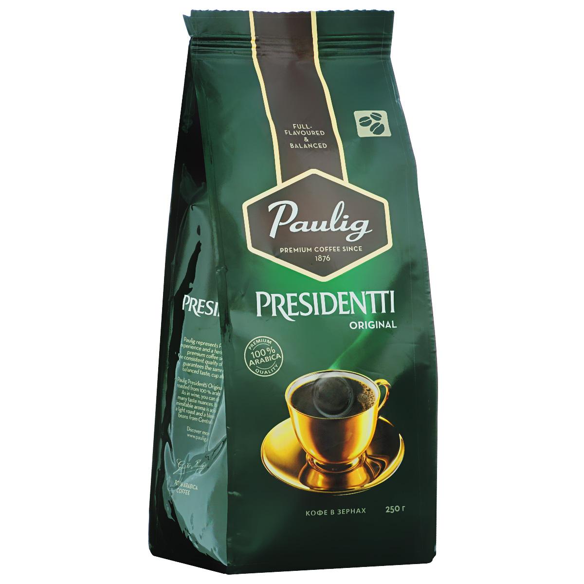 Paulig Presidentti Original кофе в зернах, 250 г