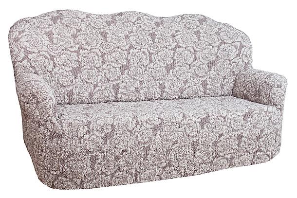 Чехол на 2-х местный диван Еврочехол «Виста», цвет: молочный, светло-коричневый, 120-160 см  2 ярусная кровать внизу диван