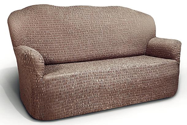 Чехол на 2-х местный диван Еврочехол Аква, цвет: бежевый, 120-160 см15/91-2_бежЧехол на 2-х местный диван Еврочехол Аква выполнен из 100% полиэстера. Он идеально подойдет для тех, кто хочет защитить свою мебель от постоянных воздействий. Этот чехол, благодаря прочности ткани, станет идеальным решением для владельцев домашних животных. Кроме того, состав ткани гипоаллергенен, а потому безопасен для малышей или людей пожилого возраста. Такой чехол отлично впишется в любой интерьер. Еврочехол послужит не только практичной защитой для вашей мебели, но и приятно удивит вас мягкостью ткани и итальянским качеством производства. Растяжимость чехла по спинке (без учета подлокотников): 120-160 см.