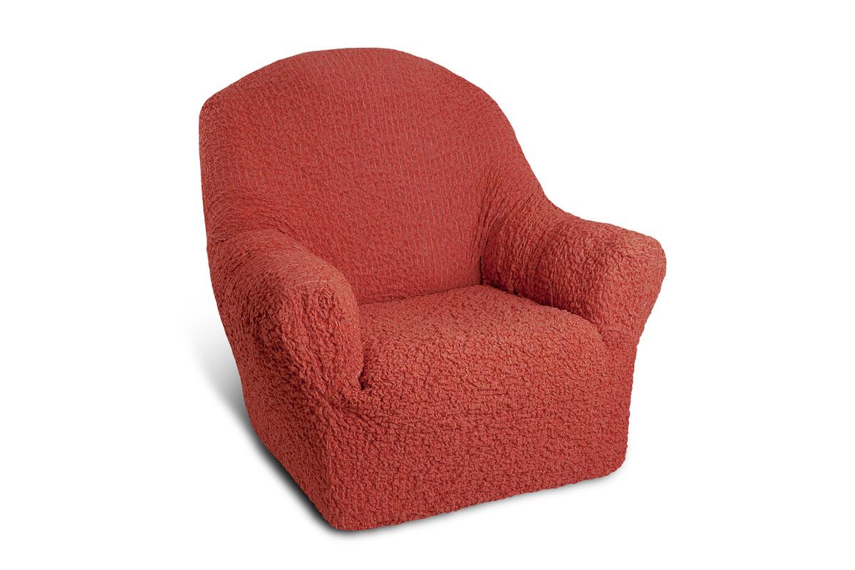 Чехол на кресло Еврочехол «Шинил», цвет: терракотовый, 60-90 см  размеры тумбочек на кухню
