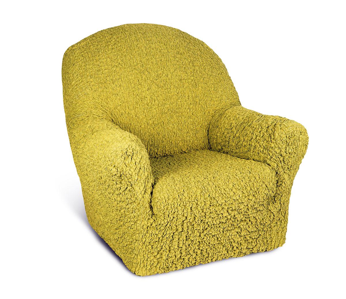 Чехол на кресло Еврочехол Шинил, цвет: янтарный, 60-90 см4/93-1Чехол на кресло Еврочехол Шинил выполнен из 54% акрила, 26% хлопка, 18% полиэстера, 2% эластана. Он идеально подойдет для тех, кто хочет защитить свою мебель от постоянных воздействий. Этот чехол, благодаря прочности ткани, станет идеальным решением для владельцев домашних животных. Кроме того, состав ткани гипоаллергенен, а потому безопасен для малышей или людей пожилого возраста. Такой чехол отлично впишется в любой интерьер. Еврочехол послужит не только практичной защитой для вашей мебели, но и приятно удивит вас мягкостью ткани и итальянским качеством производства. Растяжимость чехла по спинке (без учета подлокотников): 60-90 см.
