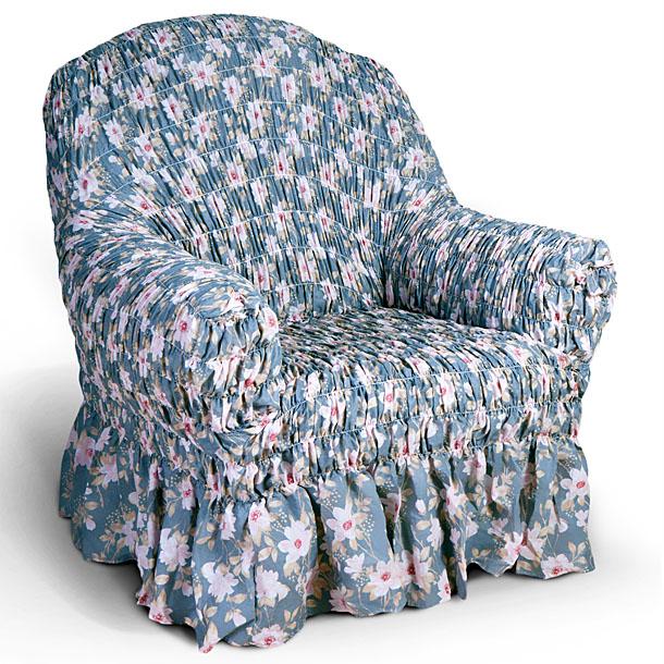 Чехол на кресло Еврочехол Фантазия, цвет: светло-серый, розовый, 60-100 см2/16-1Чехол на кресло Еврочехол Фантазия выполнен из 50% хлопка, 50% полиэстера. Он защитит вашу мебель от ежедневных воздействий. Натуральный состав ткани гипоаллергенен, а потому безопасен для малышей или людей пожилого возраста. Чехол в классическом цветовом исполнении - один из самых востребованных. Наличие оборки (юбки) по нижнему краю чехла придает мебели особое очарование, изюминку, привнося в интерьер помещения уют, свежесть, легкость и мягкость. Неважно, в каком стиле выполнена обстановка (это может быть классический интерьер, либо скандинавского стиля, или даже в колониальных мотивах), чехол чудесно дополнит стилистику любого интерьера - от ретро до современности. Гостиная, детская, кухня, прихожая или спальня - с таким чехлом любая комната наполнится нежностью и любовью. Растяжимость чехла по спинке (без учета подлокотников): 60-100 см.