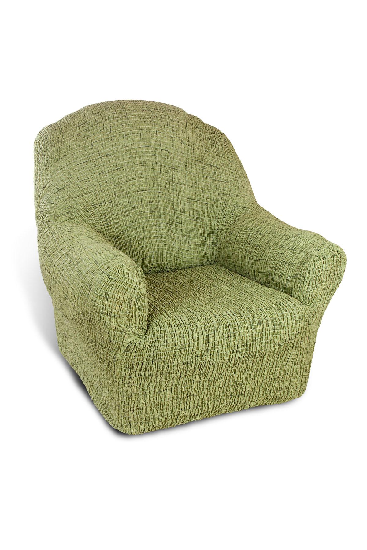 Чехол на кресло Еврочехол Плиссе, цвет: фисташковый, 60-90 см7/48-1Чехол на кресло Еврочехол Плиссе выполнен из 50% хлопка и 50% полиэстера. Такой состав ткани гипоаллергенен, а потому безопасен для малышей или людей пожилого возраста. Такой чехол защитит вашу мебель от повседневных воздействий. Дизайн чехла отлично впишется в интерьер, выполненный из натуральных материалов. Приятный оттенок придаст ощущение свежести и единения с природой. Чехол Плиссе - отличный вариант для мебели в гостиной, кухне, спальне, детской или прихожей! Интерьер в стиле эко, кантри, фьюжн, хай-тек, скандинавских мотивов и других. Утонченный итальянский дизайн чехла отлично впишется в городские и загородные дома. Гарантированное итальянское качество производства обеспечит долгое пользование. Растяжимость чехла по спинке (без учета подлокотников): 60-90 см.