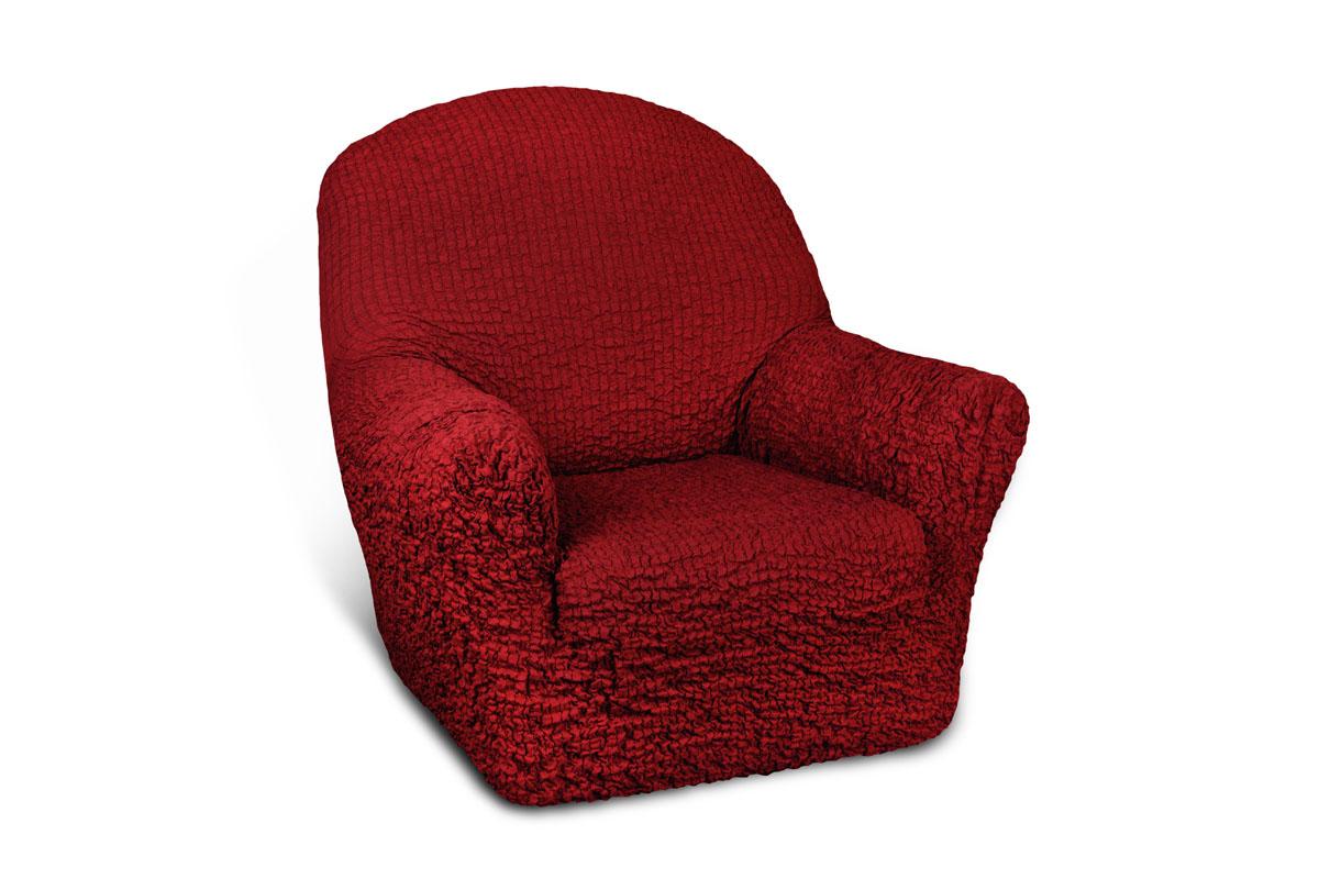 Чехол на кресло Еврочехол «Модерн», цвет: рубиновый, 60-90 см  тумбочка со столиком
