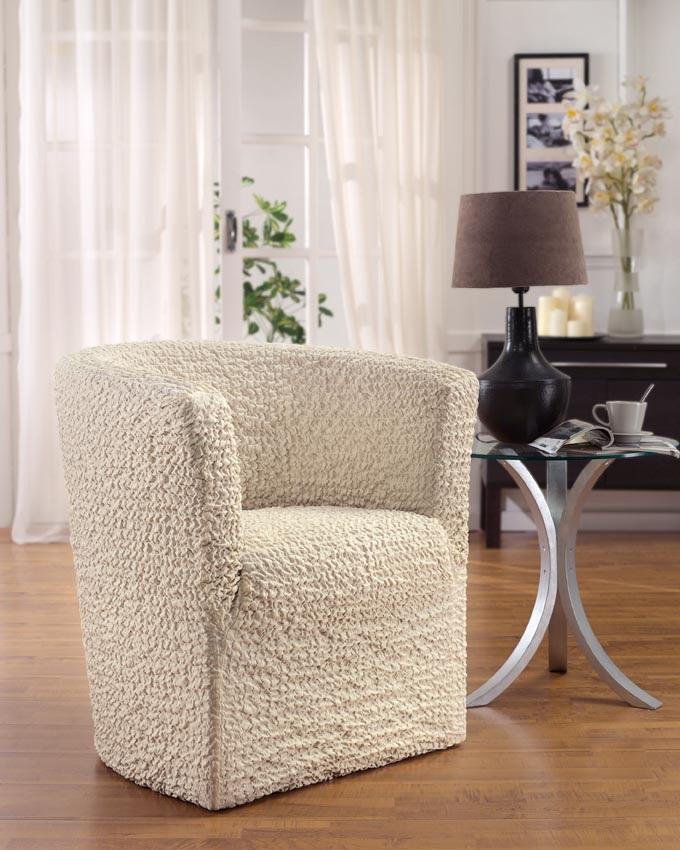 Чехол на кресло-ракушку Еврочехол «Модерн», цвет: шампань, 60-90 см  тумба для обуви индра д2125
