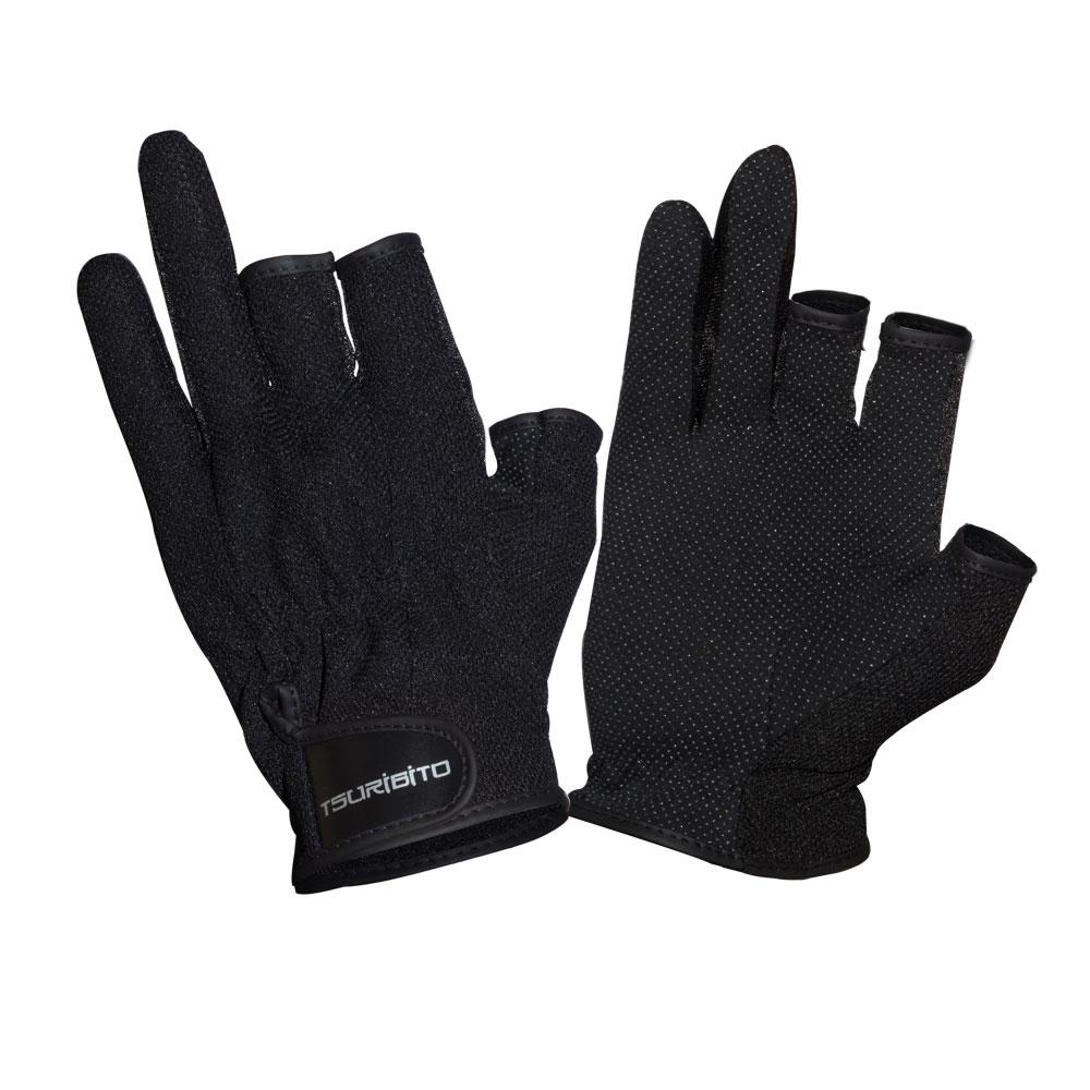 Перчатки рыболовные Tsuribito SFG-8016, цвет: черный81530Стильные и практичные рыболовные перчатки универсального размера Tsuribito SFG-8016, изготовленные из полиэстера, незаменимы в промозглую и ветреную погоду. Эргономичный крой перчаток и использование современных материалов позволило добиться их великолепной посадки на руке. Они прекрасно защищают от переохлаждения и обветривания, продлевая время нахождения на рыбалке в холодный и сырой день. Самые легкие перчатки Tsuribito SFG-8016 рассчитаны на относительно высокую температуру. Комфортные и удобные при носке, эти перчатки являются многофункциональными и будут востребованы не только во время рыбной ловли.