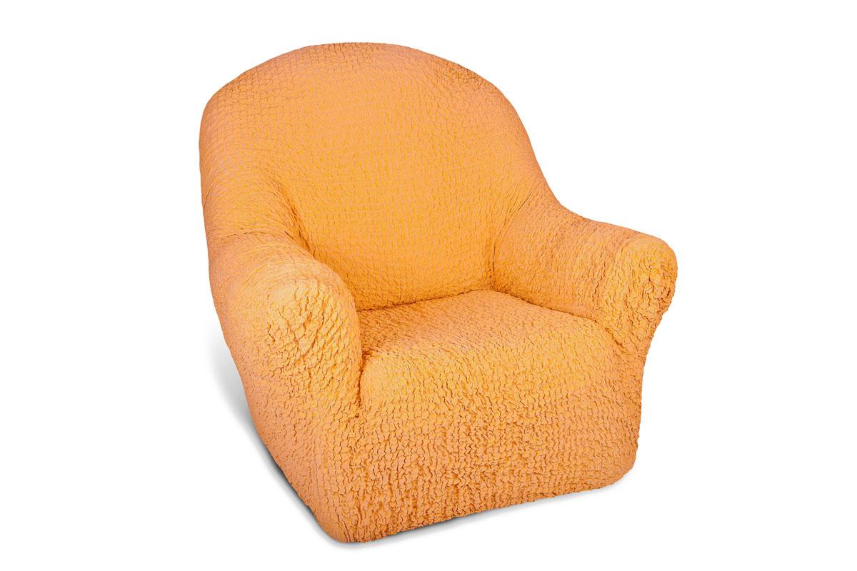 Чехол на кресло Еврочехол Модерн, цвет: охра, 60-90 см1/2-1Чехол на кресло Еврочехол Модерн выполнен из 60% хлопка, 35% полиэстера, 5% эластана. Благодаря прочности ткани этот чехол для мебели станет идеальным решением защиты мебели для владельцев домашних животных. Кроме того, натуральный состав ткани гипоаллергенен, а потому безопасен для малышей или людей пожилого возраста. Такой чехол обогатит интерьер вашего дома. Чехол на кресло Еврочехол Модерн актуален для таких стилевых решений, как скандинавский, лофт, английский, эко-стиль, Нью-йоркский. Мягкая ткань из высокопрочного хлопка обеспечит вашему креслу достойную защиту от воздействий, а современный стиль подарит ежедневную радость от обновленной обстановки в доме. Растяжимость чехла по спинке (без учета подлокотников): 60-90 см.