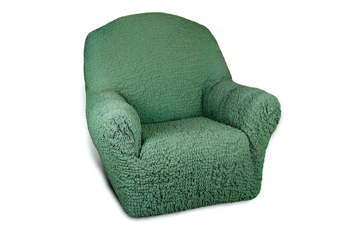 Чехол на кресло Еврочехол «Модерн», цвет: малахитовый, 60-90 см  кожаные диван кровати в москве