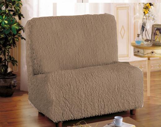 Еврочехол на кресло «Модерн» Какао без подлокотников  подвесные тумбочки с раковиной