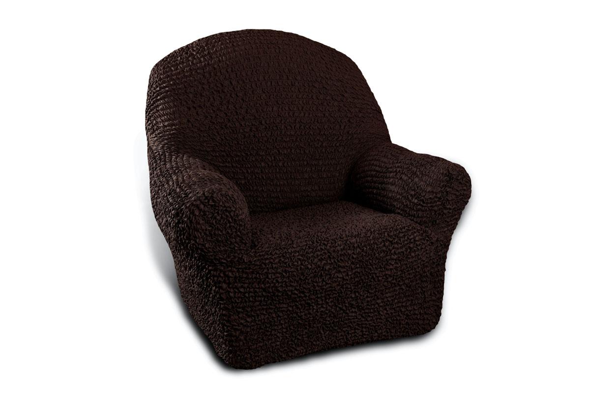 Чехол на кресло Еврочехол «Микрофибра», цвет: черный шоколад, 60-100 см  подъемный журнальный столик