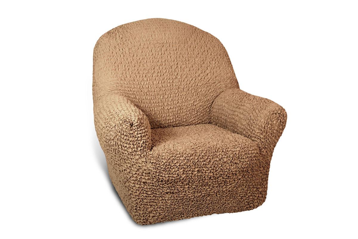 Чехол на кресло Еврочехол Микрофибра, цвет: кофейный, 60-100 см3/23-1Чехол на кресло Еврочехол Микрофибра выполнен из 100% полиэстера. Такой состав ткани гипоаллергенен, а потому безопасен для малышей или людей пожилого возраста. Такой чехол защитит вашу мебель от повседневных воздействий. Дизайн чехла отлично впишется в интерьер. Приятный оттенок придаст ощущение свежести и единения с природой. Чехол Микрофибра - отличный вариант для мебели в гостиной, кухне, спальне, детской или прихожей! Интерьер в стиле эко, кантри, фьюжн, хай-тек, скандинавских мотивов и других. Утонченный итальянский дизайн чехла отлично впишется в городские и загородные дома. Гарантированное итальянское качество производства обеспечит долгое пользование. Растяжимость чехла по спинке (без учета подлокотников): 60-100 см.
