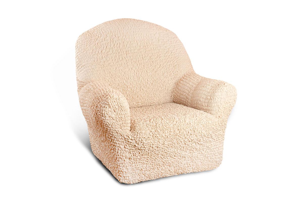 Чехол на кресло Еврочехол Микрофибра, цвет: ваниль, 60-100 см3/22-1Чехол на кресло Еврочехол Микрофибра выполнен из 100% полиэстера. Такой состав ткани гипоаллергенен, а потому безопасен для малышей или людей пожилого возраста. Такой чехол защитит вашу мебель от повседневных воздействий. Дизайн чехла отлично впишется в интерьер. Приятный оттенок придаст ощущение свежести и единения с природой. Чехол Микрофибра - отличный вариант для мебели в гостиной, кухне, спальне, детской или прихожей! Интерьер в стиле эко, кантри, фьюжн, хай-тек, скандинавских мотивов и других. Утонченный итальянский дизайн чехла отлично впишется в городские и загородные дома. Гарантированное итальянское качество производства обеспечит долгое пользование. Растяжимость чехла по спинке (без учета подлокотников): 60-100 см.