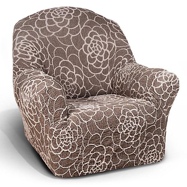 """Чехол на кресло Еврочехол """"Де Люкс"""", цвет: коричневый, 60-120 см ( 13/87-1 )"""