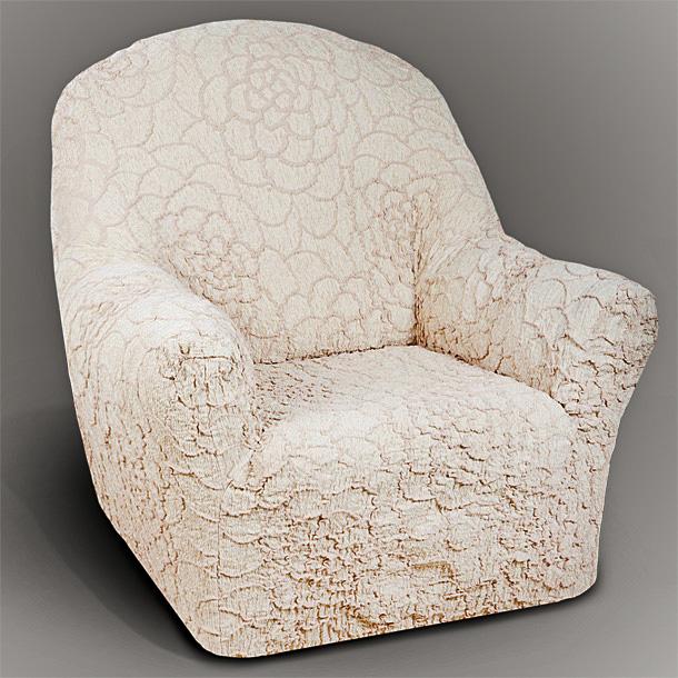 Чехол на кресло Еврочехол Де Люкс, цвет: бежевый, 60-120 см13/86-1Чехол на кресло Еврочехол Де Люкс выполнен из 54% акрила, 26% хлопка, 18% полиэстера, 2% эластана. Он идеально подойдет для тех, кто хочет защитить свою мебель от постоянных воздействий. Этот чехол, благодаря прочности ткани, станет идеальным решением для владельцев домашних животных. Кроме того, состав ткани гипоаллергенен, а потому безопасен для малышей или людей пожилого возраста. Такой чехол отлично впишется в любой интерьер. Еврочехол послужит не только практичной защитой для вашей мебели, но и приятно удивит вас мягкостью ткани и итальянским качеством производства. Растяжимость чехла по спинке (без учета подлокотников): 60-120 см.