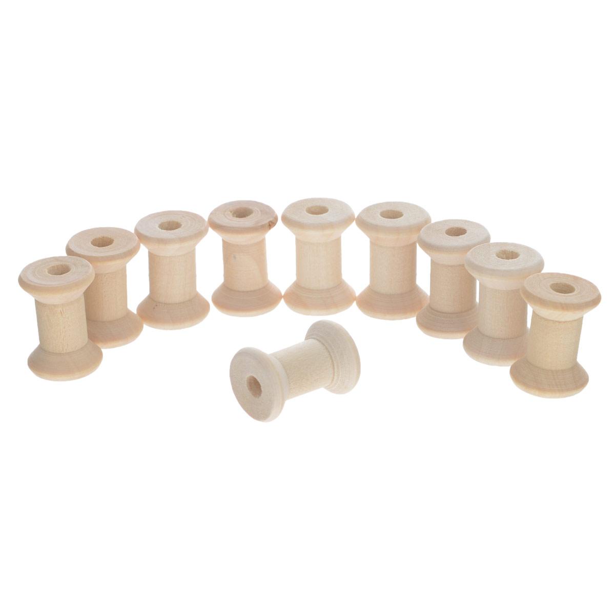 Катушки для ниток Panduro Hobby, 1,8 см х 1,8 см х 2,5 см, 10 шт100009Набор Panduro Hobby состоит из 10 катушек для ниток. Катушки выполнены из натурального высококачественного дерева. Такие катушки можно использовать как для хранения ниток, так и для декоративного оформления творческих работ. Катушки для ниток Panduro Hobby станут незаменимым атрибутом в создании рукотворного шедевра. Размер катушки: 1,8 см х 1,8 см х 2,5 см.