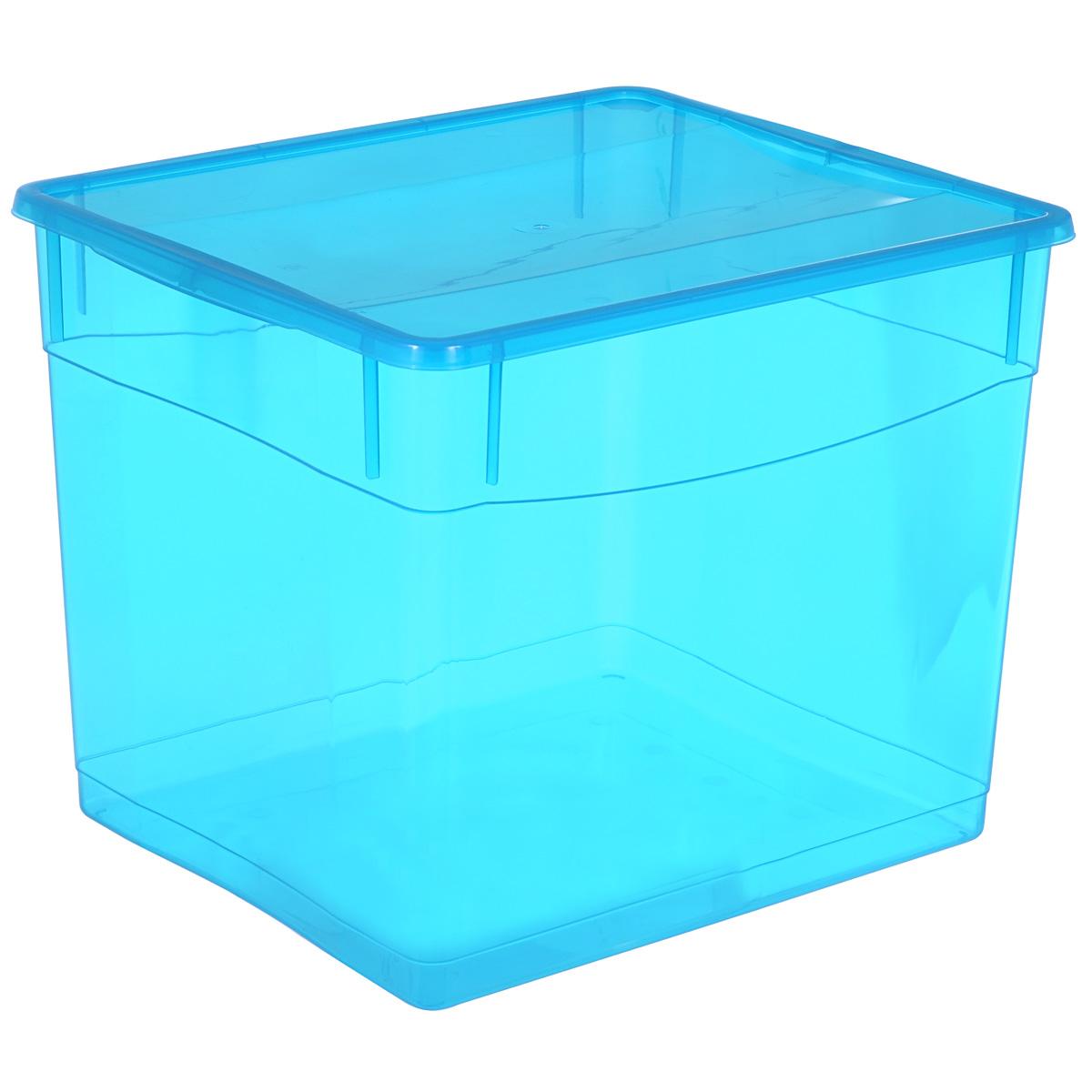Ящик универсальный Бытпласт Колор Стайл с крышкой, 34 лС12782Универсальный ящик Бытпласт Колор Стайл выполнен из полипропилена и предназначен для хранения различных предметов. Ящик оснащен удобной крышкой. Очень функциональный и вместительный, такой ящик будет очень полезен для хранения вещей или продуктов, а также защитит их от пыли и грязи.
