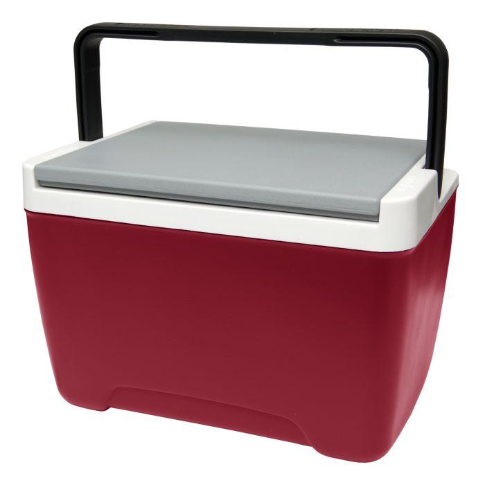 Изотермический контейнер Igloo Island Breeze, цвет: красный, 8 л43249Легкий и прочный изотермический контейнер Igloo Island Breeze, изготовленный из высококачественного пластика, предназначен для транспортировки и хранения продуктов и напитков. Корпус гладкий, эргономичного дизайна, ударопрочный. Для поддержания температуры использовать с аккумуляторами холода. Поддержание внутреннего микроклимата обеспечивается за счет термоизоляционной прокладки из пены Ultra Therm, способной удерживать температуру внутри корпуса до 24 часов. Контейнер имеет усиленную ручку с фиксацией и широко открывающуюся крышку для легкого доступа к продуктам. Крышка плотно и герметично закрывается. Такой контейнер можно взять с собой куда угодно: на отдых, пикник, на дачу, катание на лодке и т.д. Он имеет компактные размеры и не займет много места.