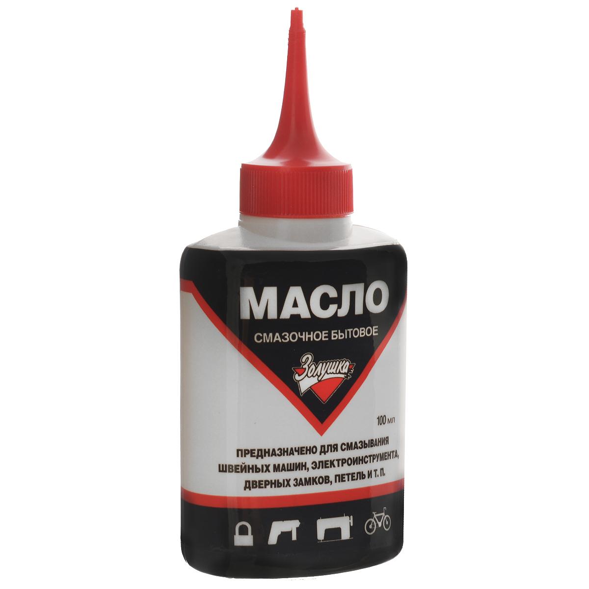 Масло смазочное Золушка, бытовое, 100 мл519256Бытовое смазочное масло Золушка высшего качества предназначено для смазывания швейных машин, электроинструмента, дверных замков, петель. Оно необходимо для нормальной работы инструментов, а также продления их срока службы. Масло бесцветное, не содержит смол и кислот, а также не имеет резкого запаха. Оно упаковано в пластиковую бутылочку с длинным носиком-дозатором для удобного нанесения и распределения. Объем: 100 мл.