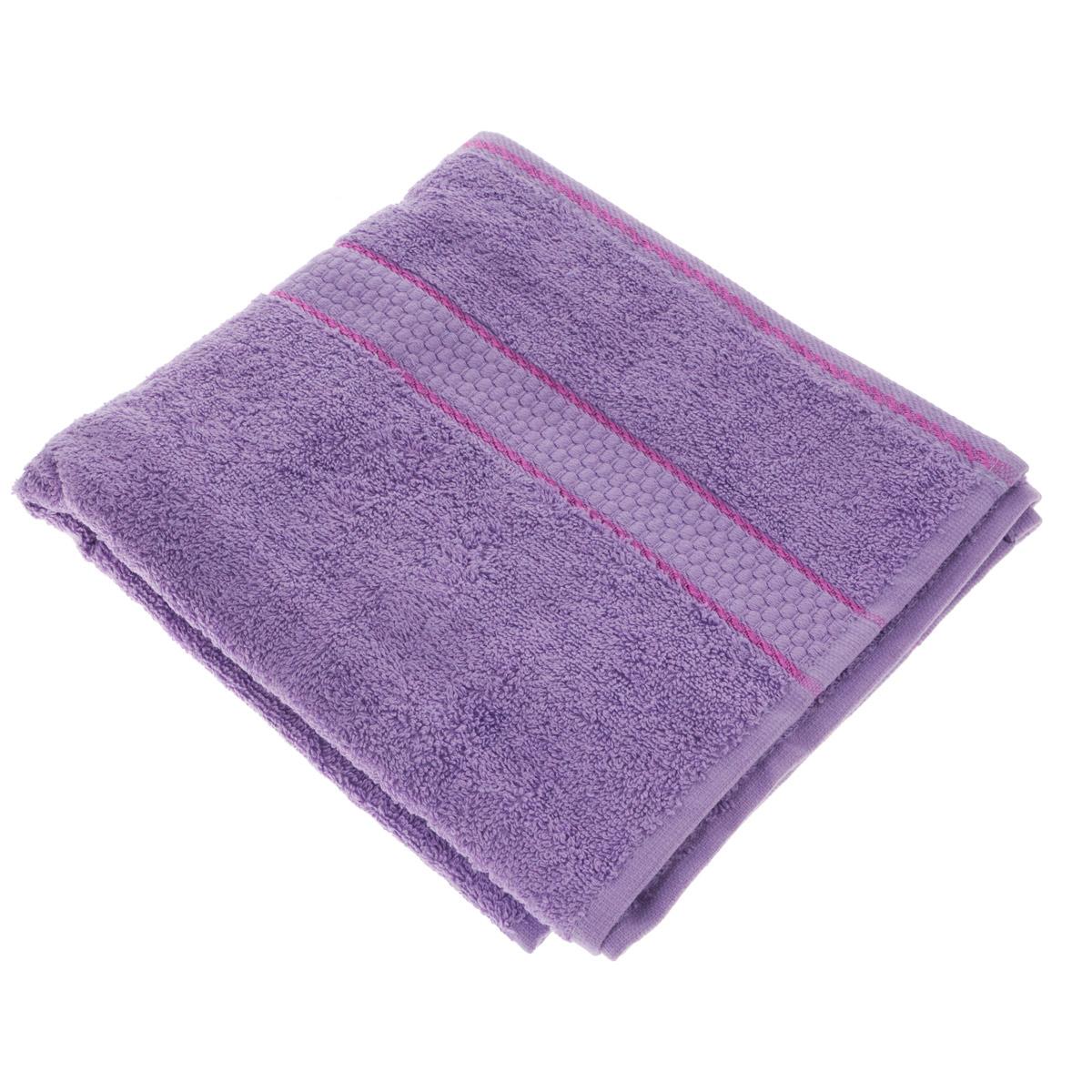 Полотенце махровое Osborn Textile, цвет: сиреневый, 50 см х 90 смУзТ-МПМ-004-01-05В состав полотенца Osborn Textile входит только натуральное волокно - хлопок. Лаконичные бордюры подойдут для любого интерьера ванной комнаты. Полотенце прекрасно впитывает влагу и быстро сохнет. При соблюдении рекомендаций по уходу не линяет и не теряет форму даже после многократных стирок. Плотность: 450 г/м2.