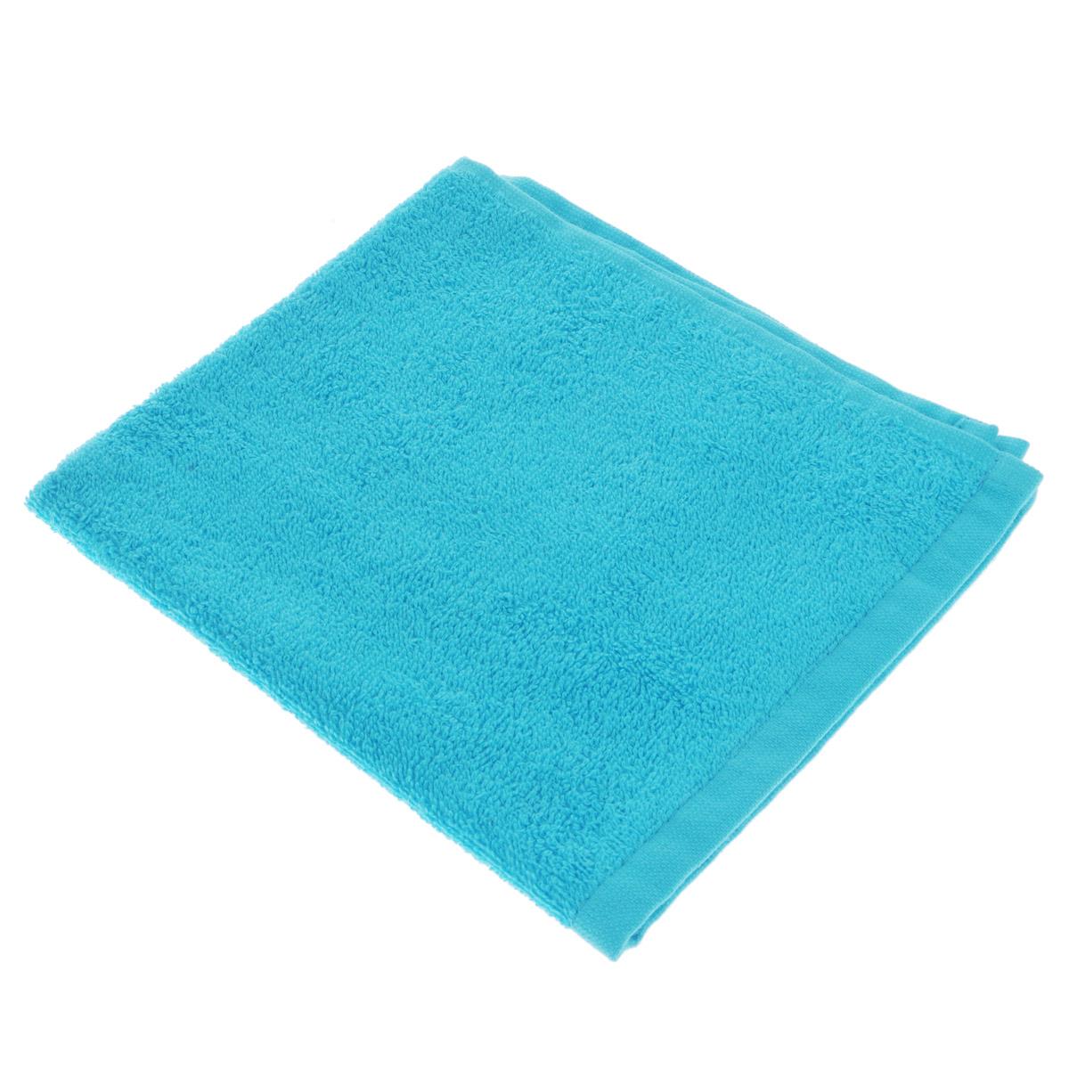 Полотенце махровое Osborn Textile, цвет: бирюзовый, 40 см х 40 смУзТ-МПБ-005-08-07В состав полотенца Osborn Textile входит только натуральное волокно - хлопок. Такое полотенце будет незаменимо в вашем быту. Оно создаст прекрасное настроение не только в ванной комнате, но и в кухне. Изделие прекрасно впитывает влагу и быстро сохнет. При соблюдении рекомендаций по уходу не линяет и не теряет форму даже после многократных стирок. Плотность: 400 г/м2.