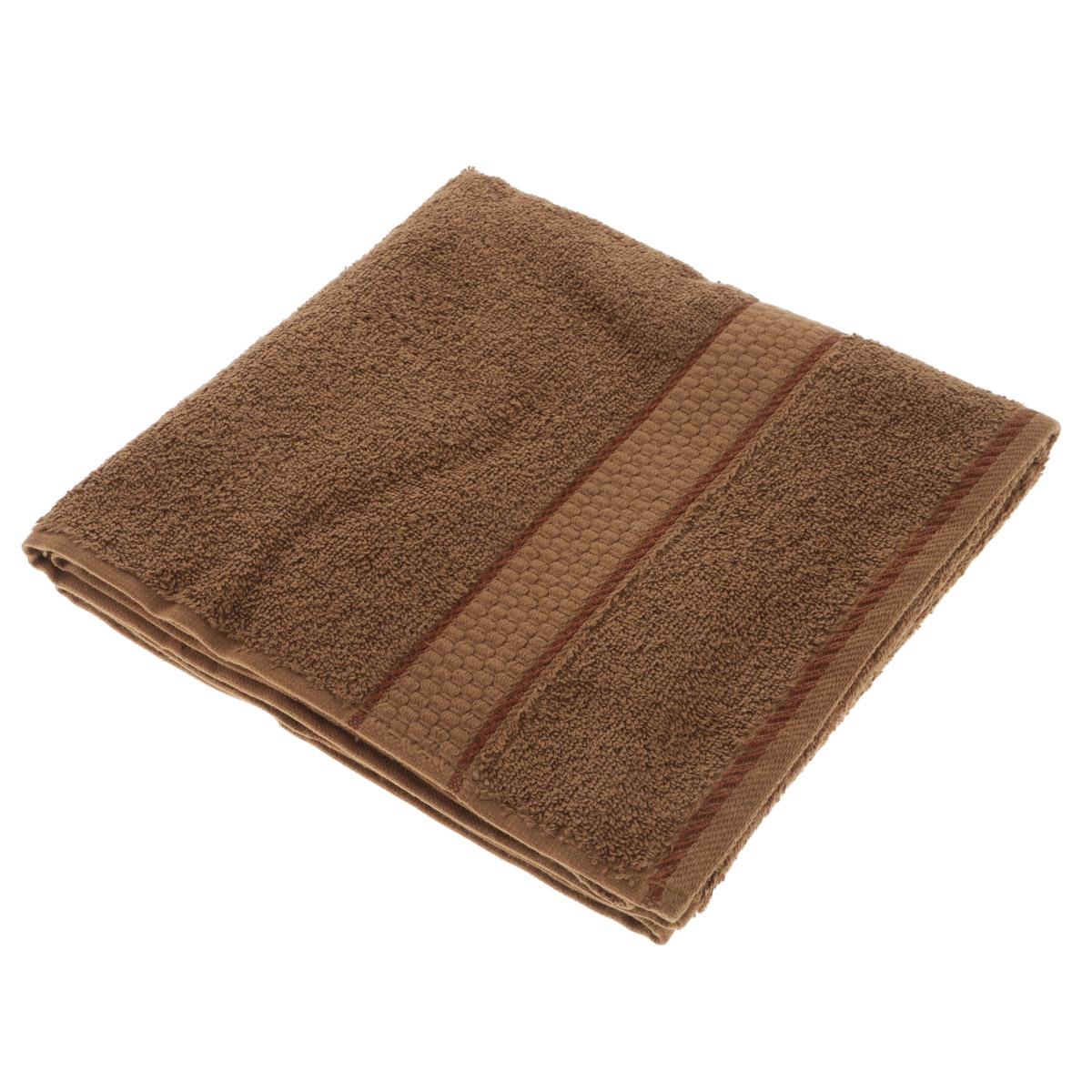 Полотенце махровое Osborn Textile, цвет: коричневый, 50 см х 90 смУзТ-МПМ-004-01-20В состав полотенца Osborn Textile входит только натуральное волокно - хлопок. Лаконичные бордюры подойдут для любого интерьера ванной комнаты. Полотенце прекрасно впитывает влагу и быстро сохнет. При соблюдении рекомендаций по уходу не линяет и не теряет форму даже после многократных стирок. Плотность: 450 г/м2.