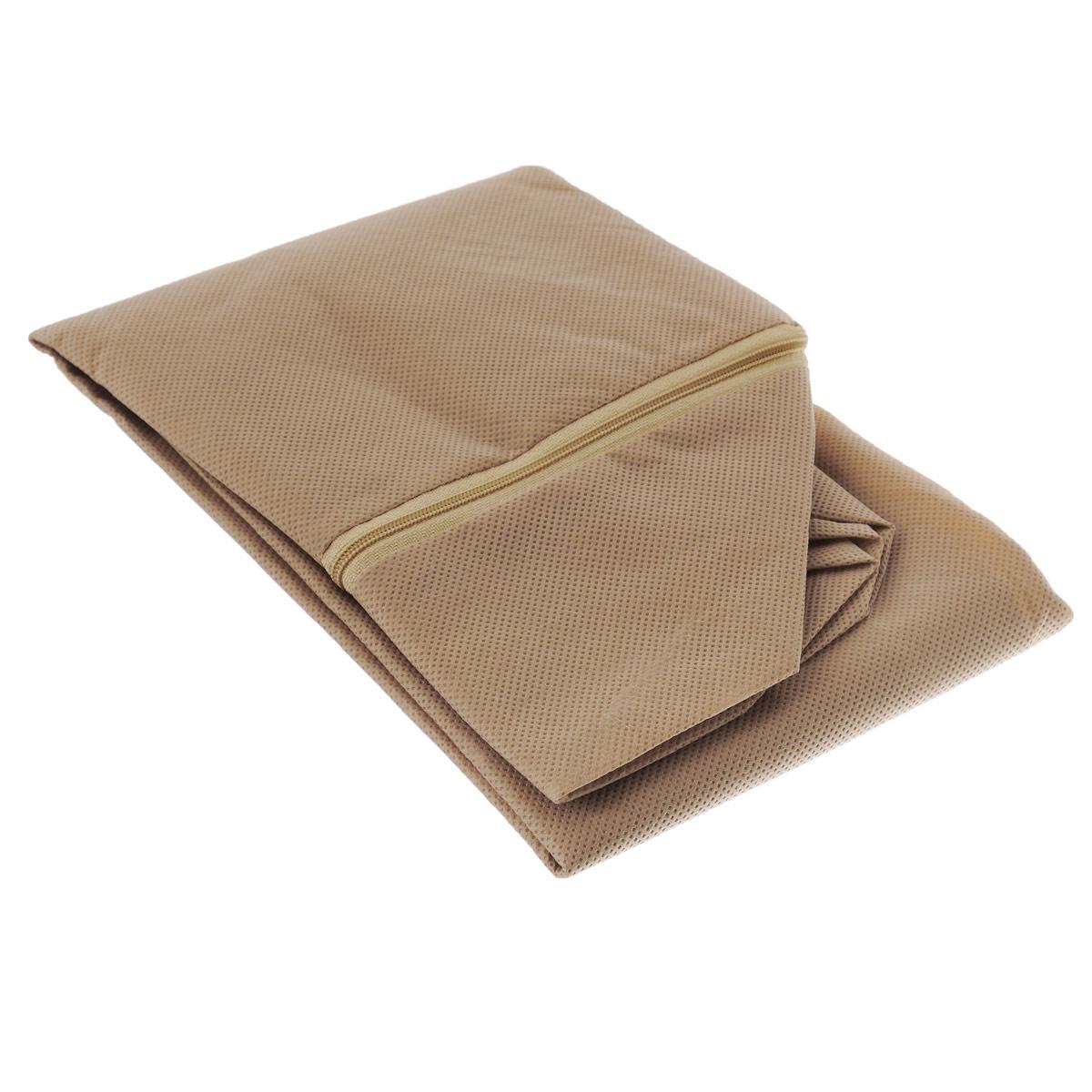 Чехол для хранения одеял Eva, цвет: бежевый, 60 см х 40 см х 20 см