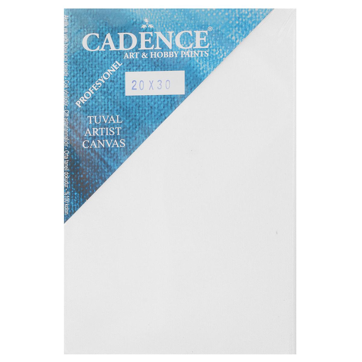 Холст Cadence Professional на подрамнике, 20 x 30 смZ2030-2Холст на подрамнике Cadence Professional изготовлен из 100% натурального хлопка. Подходит для профессионалов и художников. Холст не трескается, не впитывает слишком много краски, цвет краски и качество не изменяются. Среднезернистый холст идеально подходит для масляной и акриловой живописи. Не содержит кислот, не опасен для здоровья, не содержит ПВХ. Двойная деревянная рамка обеспечивает простоту использования для больших размеров. Подрамник с высоким качеством древесины не создаст проблем с изгибом.