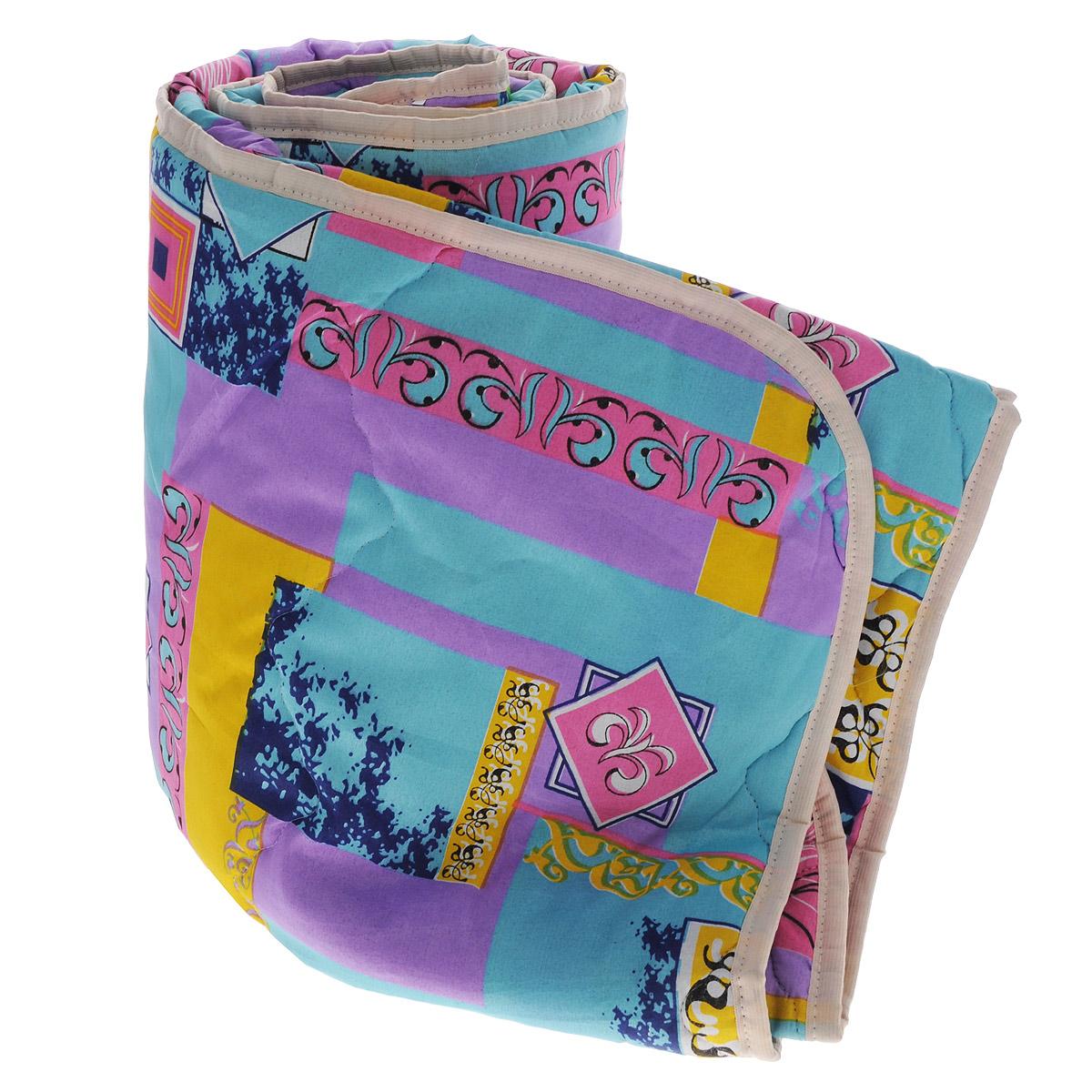 Одеяло облегченное OL-Tex Miotex, наполнитель: холфитекс, цвет: желтый, бирюзовый, сиреневый, 140 см х 205 смМХПЭ-15-2_бирюзовый, сиреневый, желтыйЧехол облегченного одеяла OL-Tex Miotex выполнен из высококачественного полиэстера. Наполнитель - холфитекс. Одеяло простегано - значит, наполнитель внутри будет всегда распределен равномерно. Изделие оформлено ярким рисунком. Идеально подойдет тем, кто ценит мягкость и тепло. Ручная стирка при температуре 30°С. Материал чехла: 100% полиэстер. Наполнитель: холфитекс.