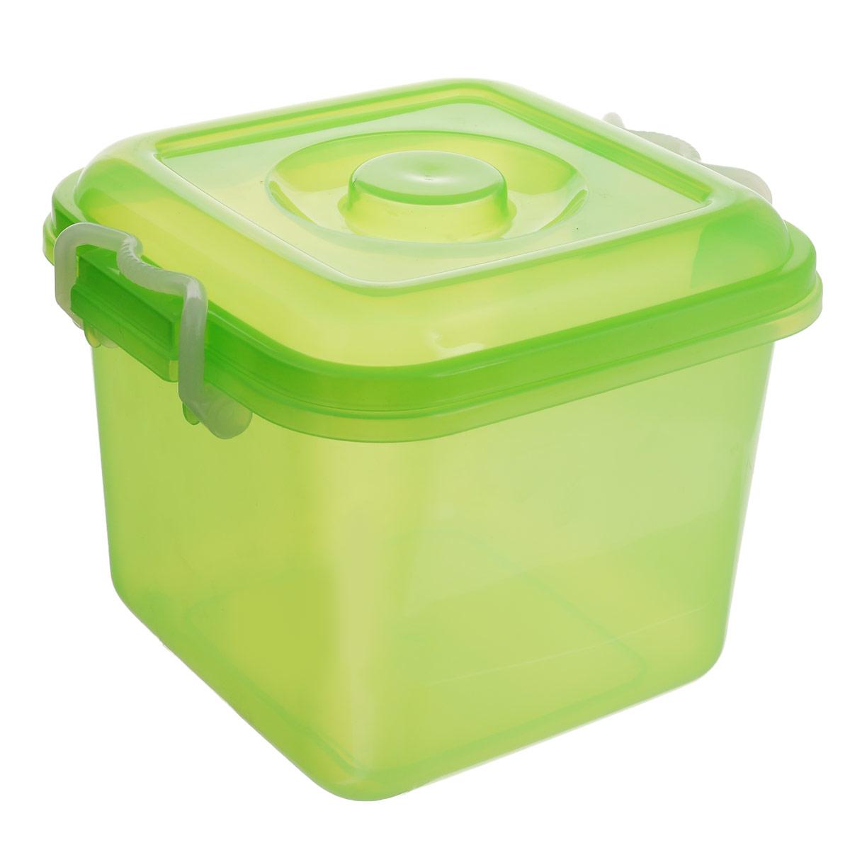 Контейнер для хранения Idea Океаник, цвет: зеленый, 8 лМ 2856Контейнер Idea Океаник выполнен из пищевого пластика, предназначен для хранения различных вещей. Контейнер снабжен эргономичной плотно закрывающейся крышкой со специальными боковыми фиксаторами.
