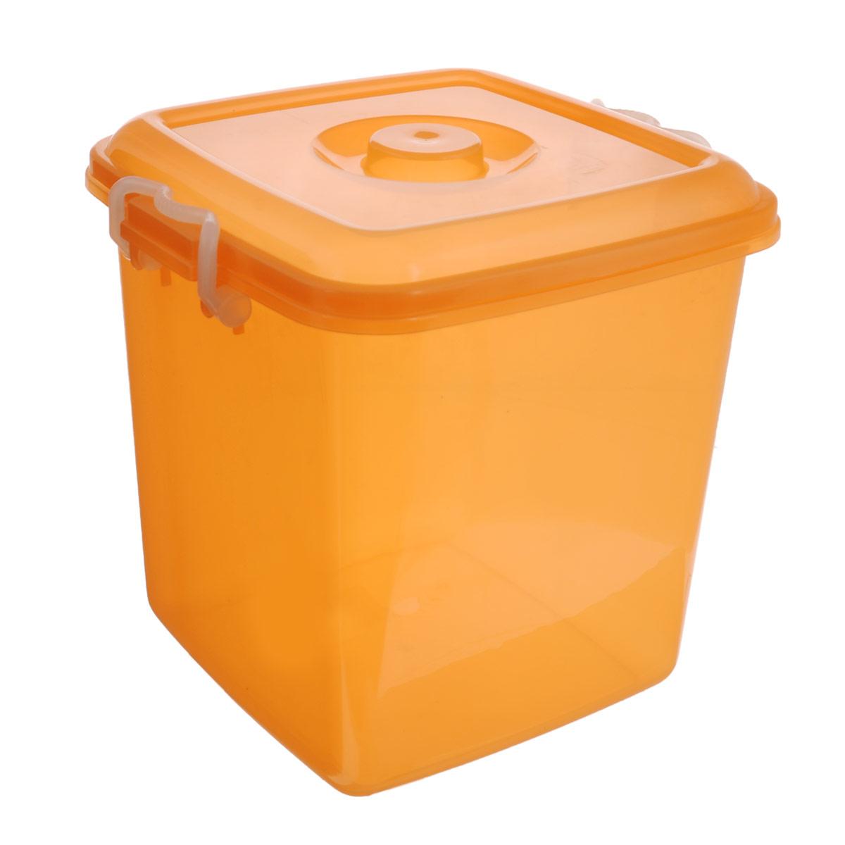 Контейнер для хранения Idea Океаник, цвет: оранжевый, 20 лМ 2858Контейнер Idea Океаник выполнен из высококачественного полипропилена, предназначен для хранения различных вещей. Контейнер снабжен эргономичной плотно закрывающейся крышкой со специальными боковыми фиксаторами. Объем контейнера: 20 л.
