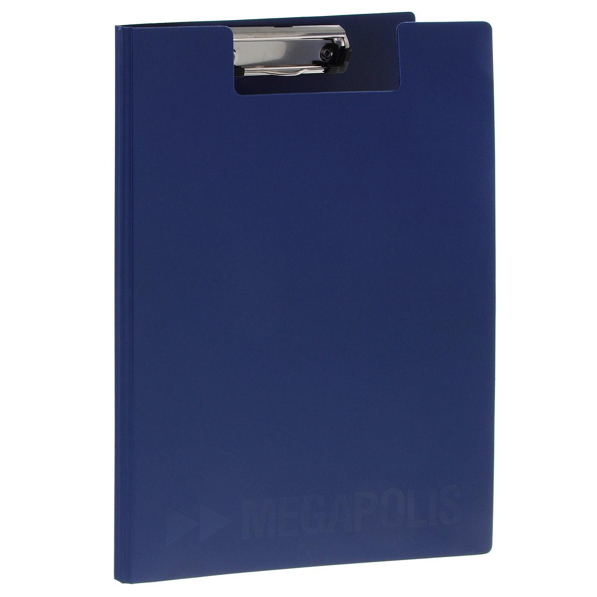 Папка-планшет Erich Krause Megapolis, формат А4, цвет: темно-синий3874Папка-планшет Erich Krause Megapolis будет незаменима для работы с документацией в дороге или на складе, а так же может быть использована для подготовки и хранения текстов выступлений или докладов . Изготовлена из жесткого пластика, и ПВХ. Благодаря своей жесткости позволяет делать записи на весу. Металлический зажим надежно фиксирует листы, предотвращая сползание бумаги. Есть внутренний карман для заметок.
