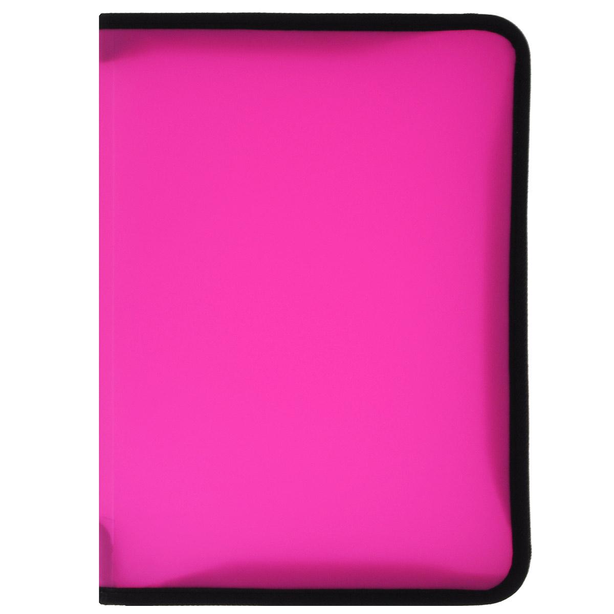 Erich Krause Папка на молнии цвет розовый формат А434737Многофункциональная папка Erich Krause на молнии используется для хранения различных бумаг, каталогов, тетрадей, рефератов. Защищает бумагу от повреждений, пыли и влаги. Удобна в поездках. Закрывается на застежку-молнию.