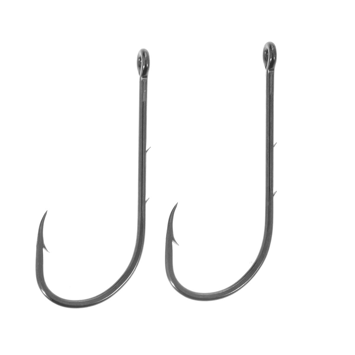 Крючки рыболовные Cobra Baitholder, цвет: черный, размер 10/0, 2 штC1101NSB-K100Классическая форма крупных крючков Cobra Baitholder c круглым загибом и отогнутым в сторону цевья жалом. Рекомендуется для ловли самой крупной трофейной рыбы. Благодаря двум дополнительным бородкам на цевье, прочно удерживают любую насадку.