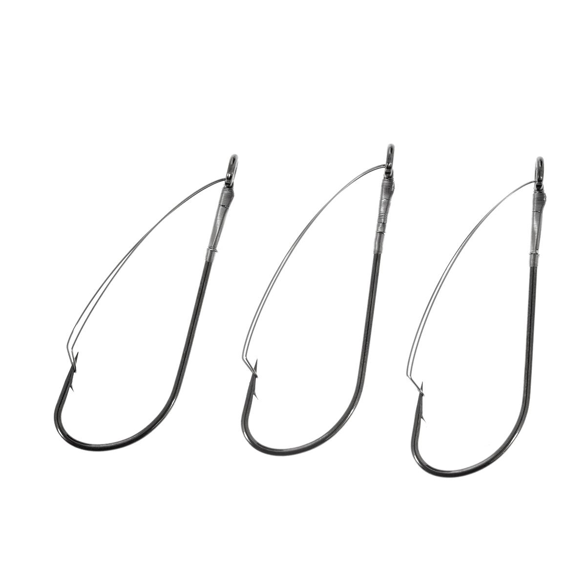 Крючки рыболовные Cobra Weedless, цвет: черный, размер 3/0, 3 штC075NSB-K030Cobra Weedless - серия крючков c проволочной защитой. Идеальный вариант для ловли крупной рыбы в местах, где возможны частые зацепы и потеря приманок – коряжнике, среди водорослей и камней. Широко используются для оснащения блесен, снасточек, пластиковых и других приманок.