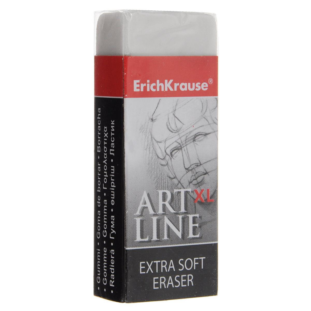 Ластик Erich Krause Art Line XL, цвет: белый35139Ластик Erich Krause Art Line XL станет незаменимым аксессуаром на рабочем столе не только школьника или студента, но и офисного работника.